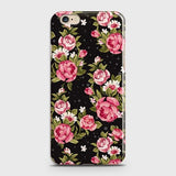 iPhone 6 Plus & iPhone 6S Plus Cover - Trendy Pink Rose Vintage Flowers Printed Hard Case with Life Time Colors Guarantee