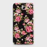 Huawei Y5 II Cover - Trendy Pink Rose Vintage Flowers Printed Hard Case with Life Time Colors Guarantee