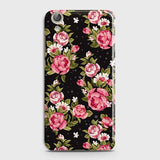 Huawei Y6 II Cover - Trendy Pink Rose Vintage Flowers Printed Hard Case with Life Time Colors Guarantee