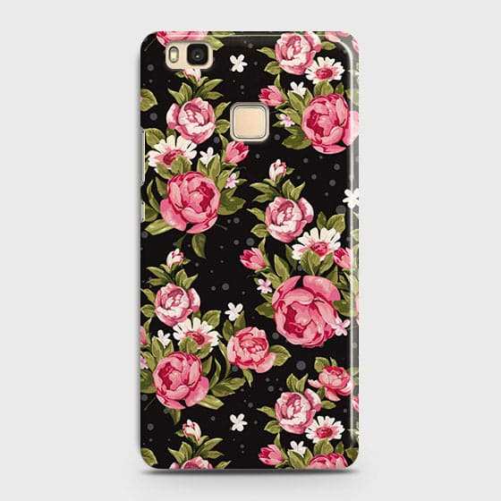Trendy Pink Rose Vintage Flowers Case For Huawei P9 Lite