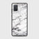 Samsung Galaxy A71 Cover - White Marble Series - HQ Ultra Shine Premium Infinity Glass Soft Silicon Borders Case