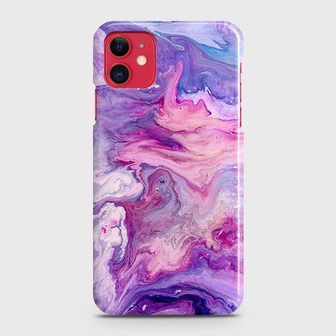 3D Chic Blue Liquid Marble Case For iPhone 11