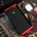3 in1 Joint 360 Smart Protection Stylish Black-Red PC Case For Oppo F5