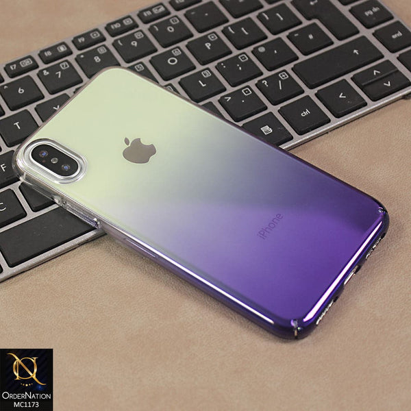 Elegant Glaze Dual Gradient Shine Purple Pc Case For iPhone X