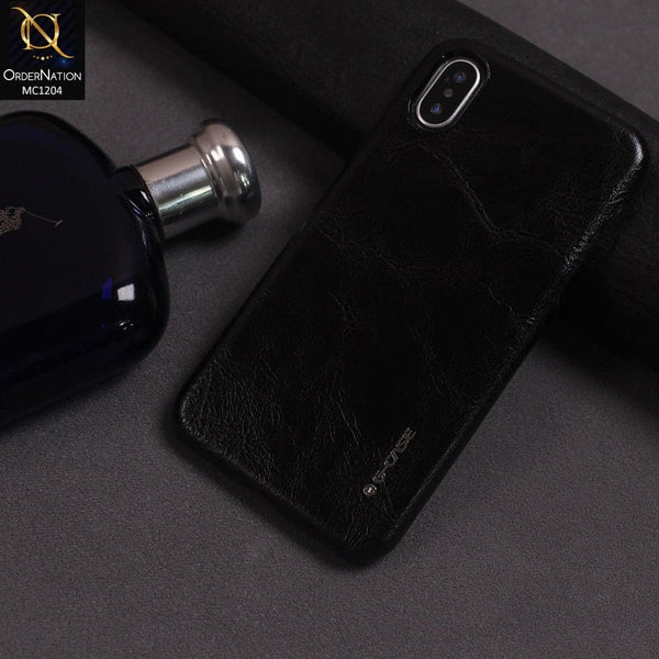 G-Case Boa Series Leather Cover Color Black For iPhone X