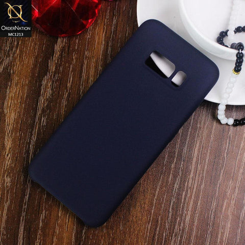 HQ Silica Gel Silicon Shockproof Matte Soft Case For Samsung Galaxy S8 - Blue