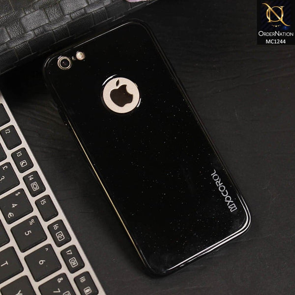 360 Gloss Black Shine Tpu Full Protection Soft Case For iPhone 6