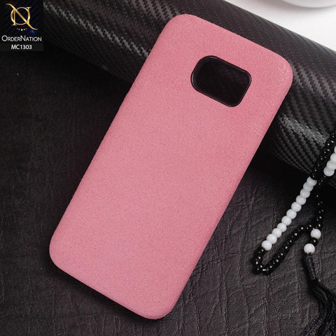 Luxury Alcantara Suede Leather Texture Pc Case For Samsung Galaxy S7 Edge - Pink