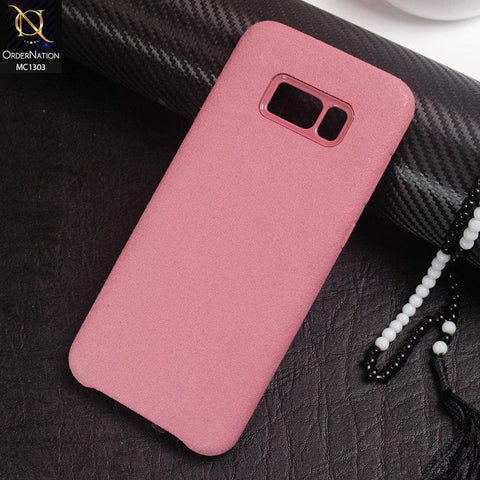Luxury Alcantara Suede Leather Texture Pc Case For Samsung Galaxy S8 Plus - Pink