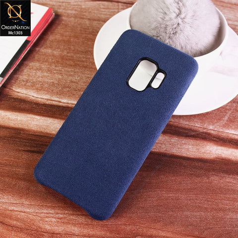 Luxury Alcantara Suede Leather Texture Pc Case For Samsung Galaxy S9 Plus - Blue