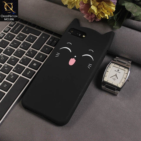 3D Silicone Smile Tongue Cat Case Color Black For iPhone 7 Plus
