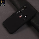 3D Silicone Smile Tongue Cat Case Color Black For iPhone X