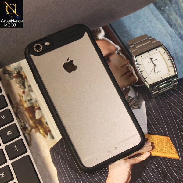 Auto Focus Ultimte Experience NEW 360 Front+Back PC+TPU Luxury Case For iPhone 6s / 6 - Black