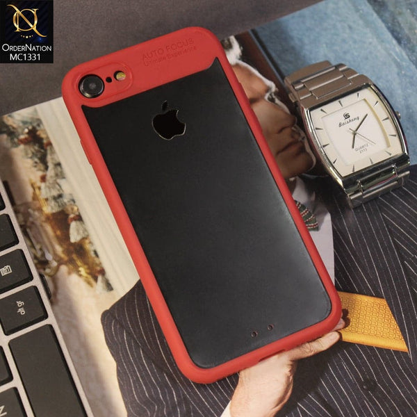 Auto Focus Ultimte Experience NEW 360 Front+Back PC+TPU Luxury Case For iPhone 8 / 7 - Red