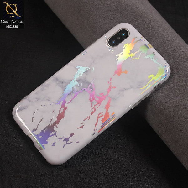 HOLO Marble Luxury HQ IMD Soft Case Color White For iPhone x