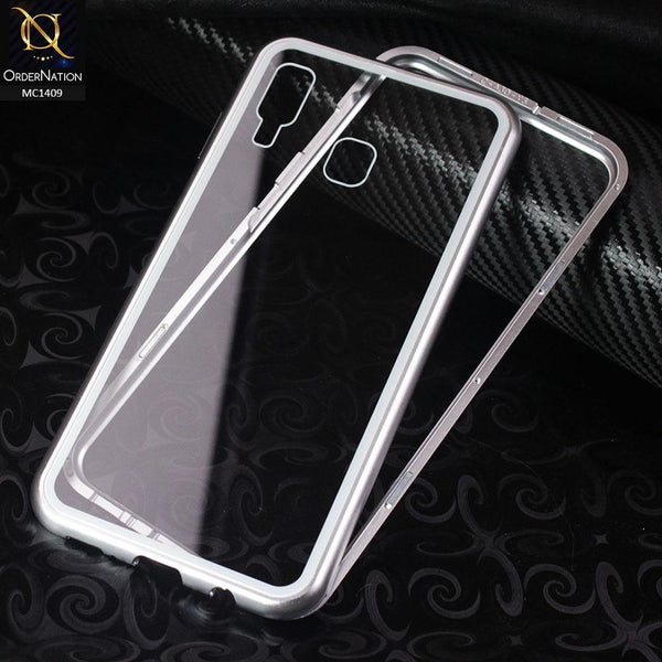 Luxury HQ Shatterproof King Magnetic Case For Samsung Galaxy A30 - Silver