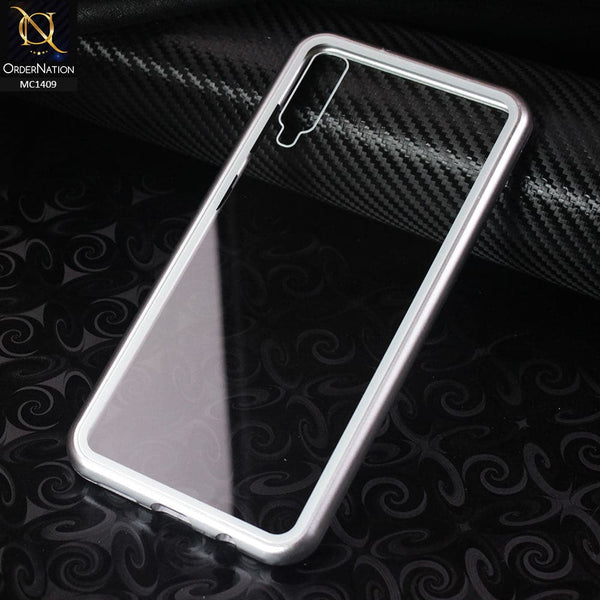 Luxury HQ Shatterproof King Magnetic Case For Samsung Galaxy A50 - Silver