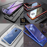 Luxury HQ Shatterproof King Magnetic Back Glass Case For Samsung Galaxy A50 - No Glass On Screen Side - Silver