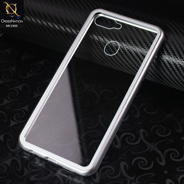 Luxury HQ Shatterproof King Magnetic Case For Oppo F9 / F9 Pro - Silver
