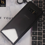 Luxury HQ Transparent Magnetic Case For Samsung Note 8 - Black