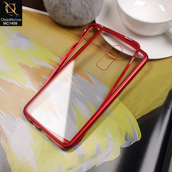 Luxury HQ Shatter Proof King Magnetic Case For Oneplus 6 - Red