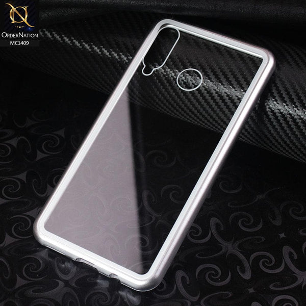Luxury HQ Shatterproof King Magnetic Case For Huawei P30 lite - Silver