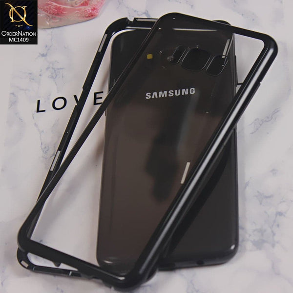 Luxury HQ Shatterproof Magnetic Case For Samsung S8 - Black