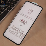 Simple 5D Glass Protector For iPhone XR - Black