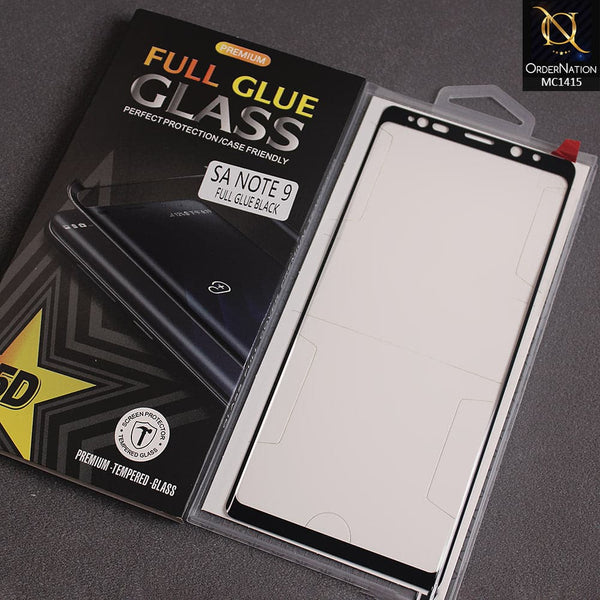 Premium Full Glue Glass 5D For Note 9 - Black