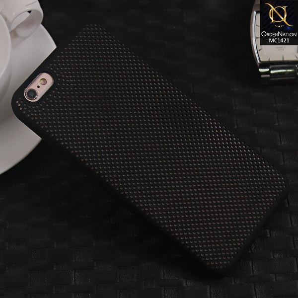 Soft Candy Doted Silica Gell Breathing Case For iPhone 6 Plus / 6s Plus - Black