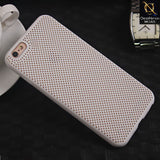 Soft Candy Doted Silica Gell Breathing Case For iPhone 6 Plus / 6s Plus - White
