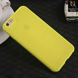 Soft Candy Doted Silica Gell Breathing Case For iPhone 6 Plus / 6s Plus - Yellow