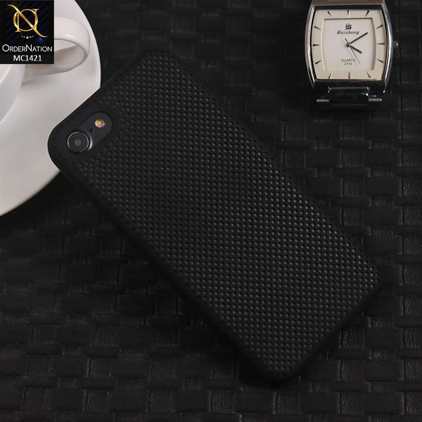 Soft Candy Doted Silica Gell Breathing Case For iPhone 8 / 7 - Black