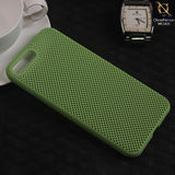 Soft Candy Doted Silica Gell Breathing Case For iPhone 8 Plus / 7 Plus - Green