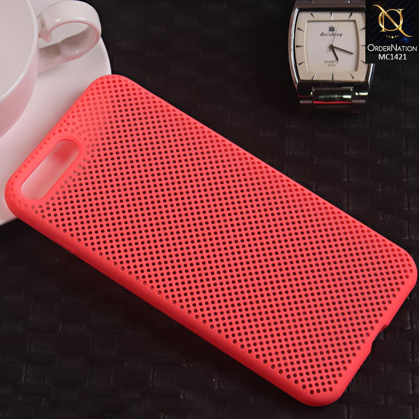 Soft Candy Doted Silica Gell Breathing Case For iPhone 8 Plus / 7 Plus - Peach
