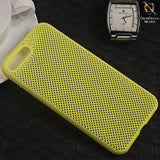 Soft Candy Doted Silica Gell Breathing Case For iPhone 8 Plus / 7 Plus - Yellow