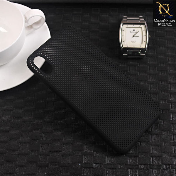 Soft Candy Doted Silica Gell Breathing Case For iPhone XS Max - Black
