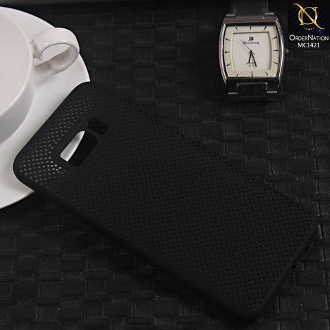 Soft Candy Doted Silica Gell Breathing Case For Samsung S8 Plus - Black