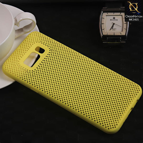 Soft Candy Doted Silica Gell Breathing Case For Samsung S8 Plus - Yellow