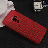 Soft Candy Doted Silica Gell Breathing Case For Samsung S9 Plus - Red