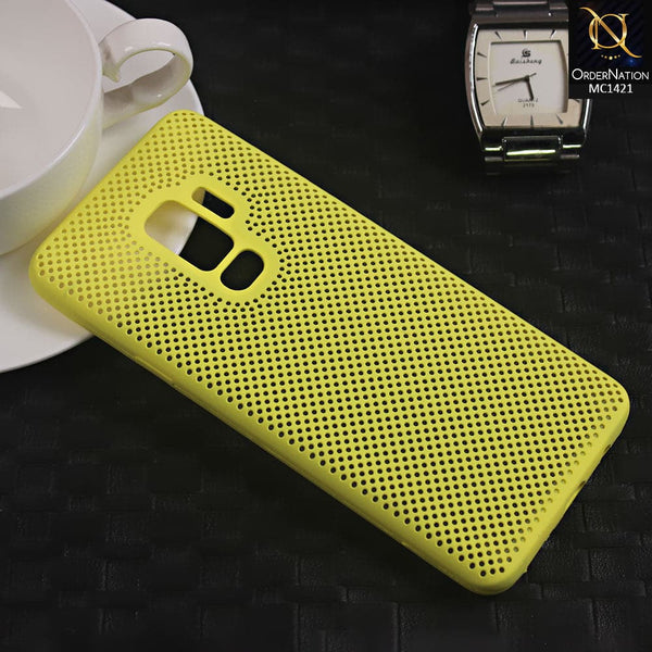 Soft Candy Doted Silica Gell Breathing Case For Samsung S9 Plus - Yellow
