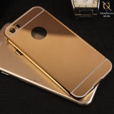 Bumper Plus Back Mirror Aluminum Case For iPhone 5s / 5 - Golden
