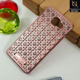 New Fashion Luxury Pearl Case For A510 - Rosegold