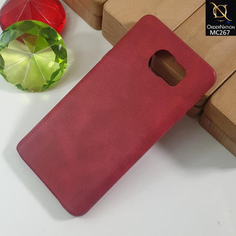 Luxury PU BOB Leather Case For S6 - Red