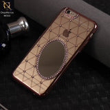 Luxury Electroplated Diamond Mirror Case For iPhone 6s / 6 - RoseGold