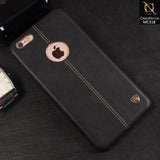 Nillkin Ultra Thin Luxury Englon Series Exquisite Leather Case For iPhone 6S Plus / 6 Plus - Black
