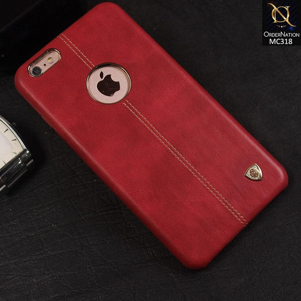 Nillkin Ultra Thin Luxury Englon Series Exquisite Leather Case For iPhone 6S Plus / iPhone 6 Plus - Red