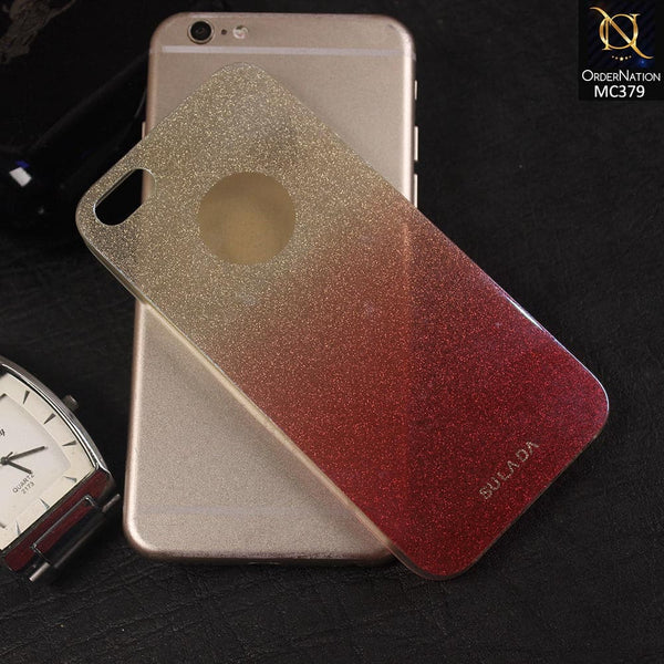 Luxury SULADA 3D Glitter Shine Colored Transparent TPU Phone Protection Case iPhone 6S Plus / 6 Plus - Red