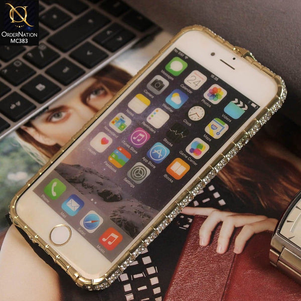Stylish Diamond Metal Luxury Bumper For iPhone 6s / 6 - Golden