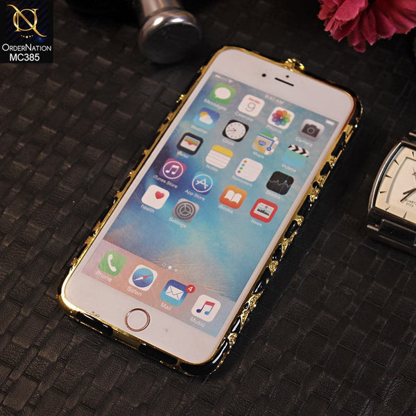 Luxury Rhinestone Diamond Bumper For iPhone 6s Plus / 6 Plus - Black